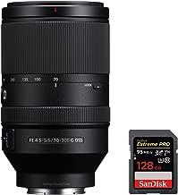 Sony (SEL70300G FE 70-300mm F4.5-5.6 G OSS Full-Frame E-Mount Lens with Sandisk Extreme PRO SDXC 128GB UHS-1 Memory Card