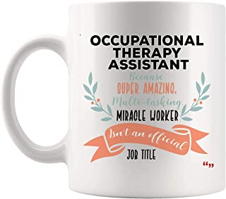 Funny Occupational Therapy Assistant Meaning Definition Mug Coffee Cup Assistants Birthday Mugs - Therapist Therapists Physiotherapist Heathy Birthday Gift