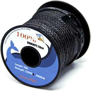 emma kites 200~7700lb 100% UHMWPE Braided Polyethylene Cord Spool - Heavy Duty Low Stretch - Outdoor Utility Cord Kitesurfing String Boating Fishing Speargun Shooting Line Hammock