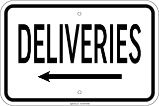Deliveries with left arrow Sign 8