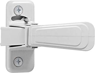 Ideal Security Inc. WCAM WC Storm and Screen Doors with with Night Latch, Locks from Inside Only Only, White