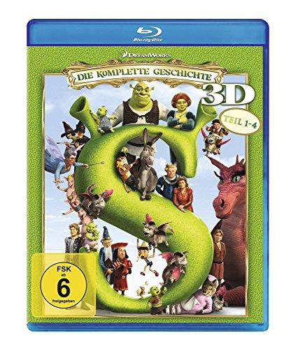 Shrek 1-4 - Die komplette Geschichte [3D Blu-ray]