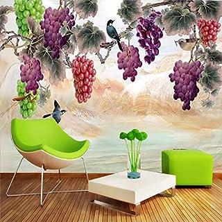 TIANXINBZ Custom 3D Wallpaper Waterproof Hand Painted Grape Flower Bird Large Mural Living Room Sofa Bedroom Wall Painting...