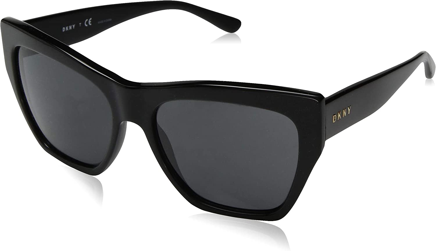 DKNY Women's 0dy4156 Square Sunglasses, Black, 58.0 mm