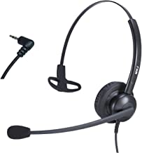 2.5mm Office Phone Headset with Noise Cancelling Microphone for Cisco Linksys SPA Panasonic Grandstream Gigaset and Cordless Phones