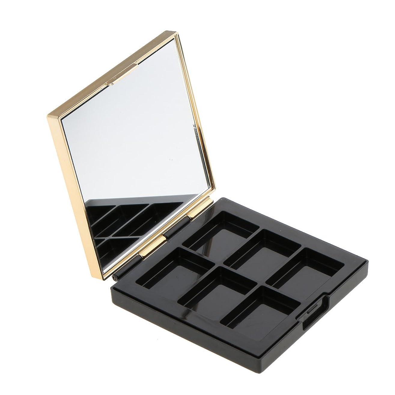 慈悲深い接続哀Baosity 空パレット 収納ボックス 高品質 ABS製 DIY コスメ収納 メイクアップケース ミラー付き