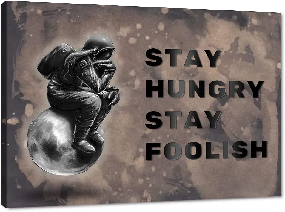 Inspirational Posters Wall Art Motivational Max 61% OFF Ranking TOP14 Quote STAY HUNGRY ST