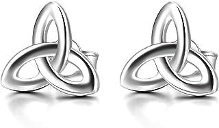 Triskele Ohrhänger Ohrringe 925 Sterling Silber massiv Damen Keltische Knoten