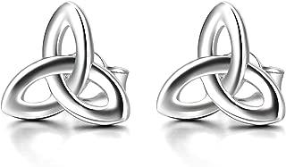 Celtic Stud Earrings Sterling Silver Celtics Jewelry Triquetra Knot Earrings Studs for Women Teen Girls