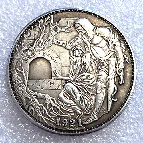 KaiKBax Morgan Hobo Nickel US Head - 1921 Hobo Nickel Coin -Old Coin Collecting-USA Old Morgan Dollar -Commemorative Gift Coin-It is Handmade Art Making Life Easier