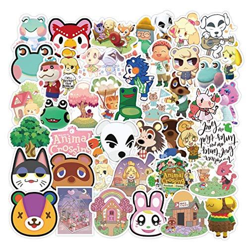 TAOSENG Pegatina de Anime de Dibujos Animados para Muebles, Silla de Escritorio, Maletero de Coche de Juguete, Ordenador portátil, Guitarra móvil, 50 unids/Pack