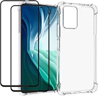 EasyLifeGo for Xiaomi Poco X3 GT/Redmi Note 10 Pro 5G Case with Tempered Glass (2 Pieces) Slim Shock Absorption TPU Soft E...