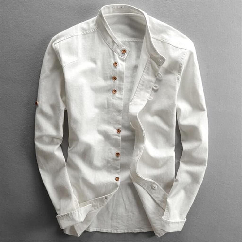 JJZXC Men's Cotton Linen quality assurance Shirts Long Men Mand Casual Sleeve Slim Ranking TOP1