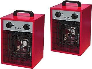Juego de 2diseño Radiador Eléctrico calefactor Estable con 2niveles de calor y práctica función ventilador, termostato, 3300W, IPX4, 230V