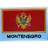Montenegro Flagge Aufnäher Montenegrin zum Aufbügeln oder Aufnähen auf Kleidung, Tasche, besticktes Abzeichen