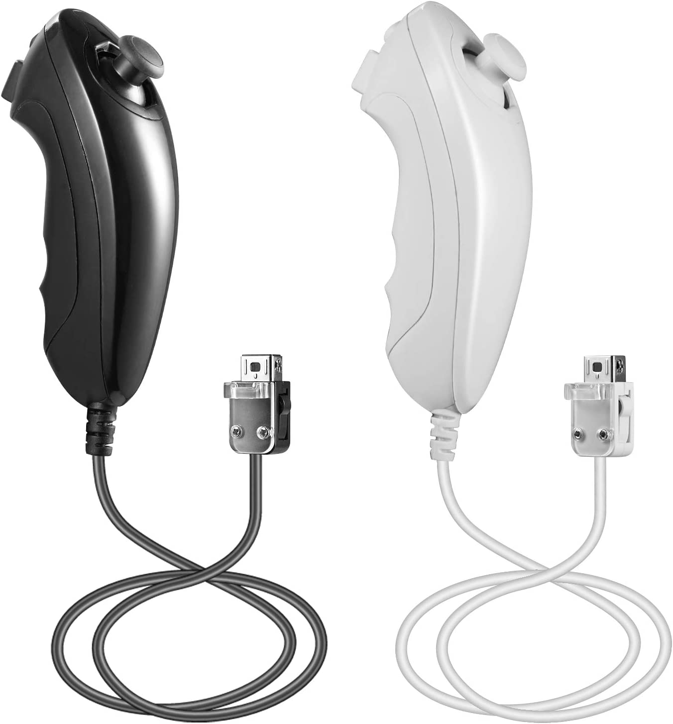 LUXMO Wii Free shipping anywhere in the nation Nunchuck Bargain Controller Pack Gamep Joystick 2