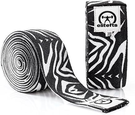 8b1129738d Amazon.com : EliteFTS Designer Knee Wraps Zebra 3.0M - Powerlifting,  Weightlifting, Crossfit, Squat Wraps : Sports & Outdoors
