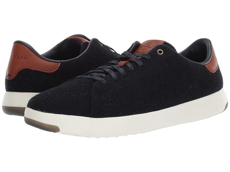 Cole Haan GrandPro Tennis Sneaker (Navy Ink Wool/British Tan) Men