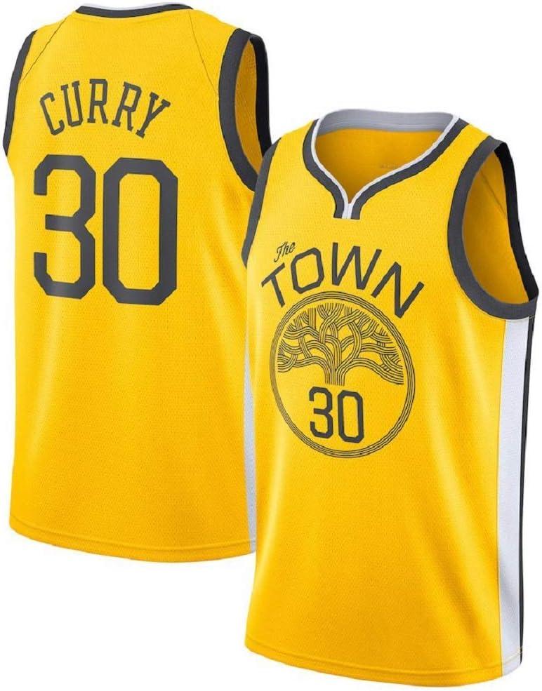 Warriors Golden State # 30 Stephen Curry Camiseta de Baloncesto Unisex Sportswear Camiseta Angel ZYJ Camiseta de Baloncesto para Hombres