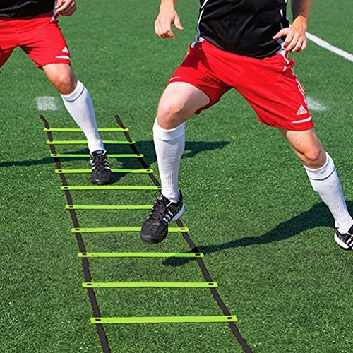 wellsem Footwork Ladder Agility Ladder with Ladder Bag, High Intensity Speed Ladder Best Football Drills Agility Equipment for Agility Training and More