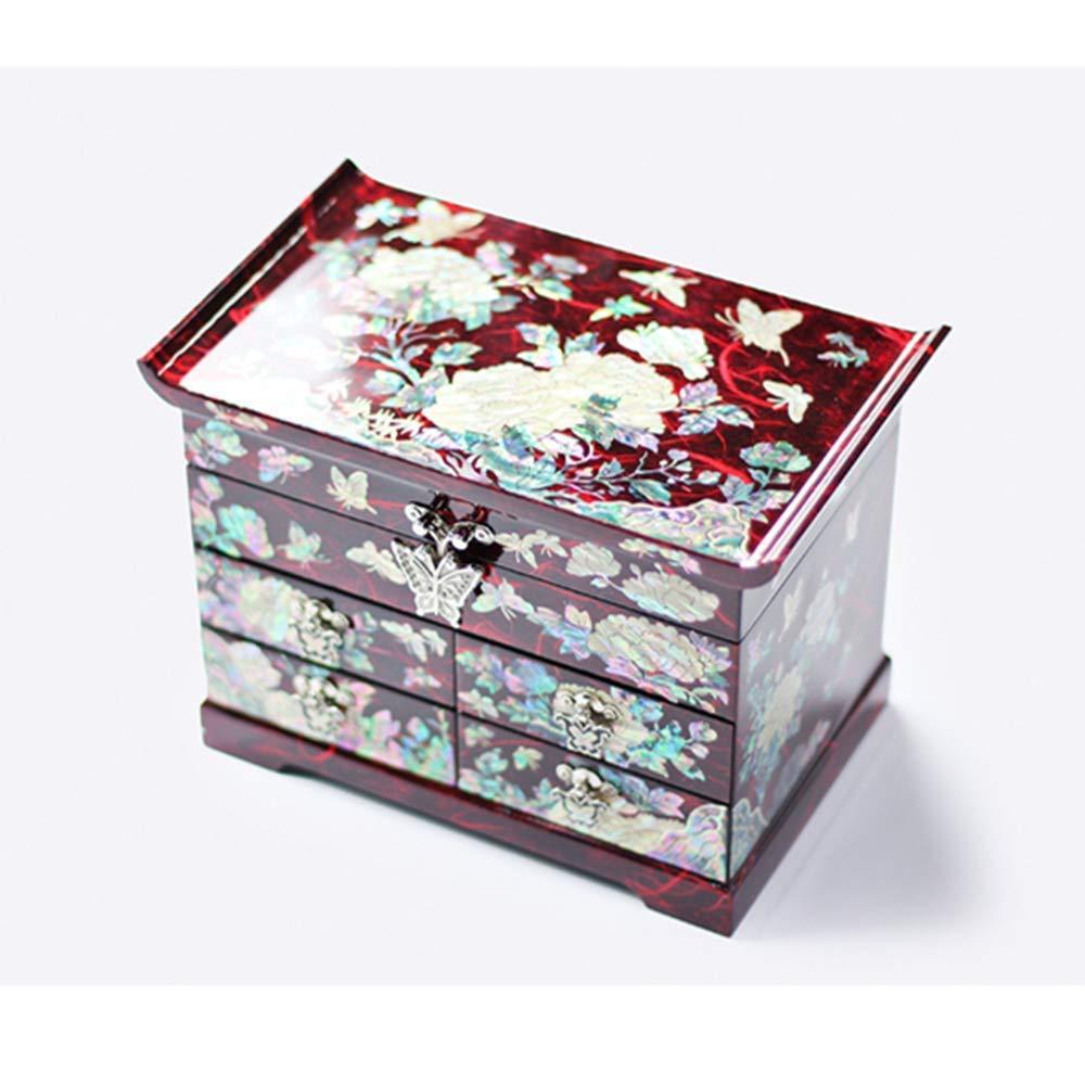 Caja de joyería Caja de joyería de Laca de luz de Empuje de Madera Pintada a manoJoyas de Madera de lacaOrganizador de almacenamientoMuebles orientales Chinos Artesanías de Laca: Amazon.es: Hogar