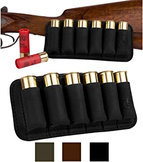 BronzeDog Shell Holder Shotgun Ammo Pouch 12 16 Gauge Genuine Leather Bullet Wallet Cartridge Bag Ammunition Carrier Hunting Accessories