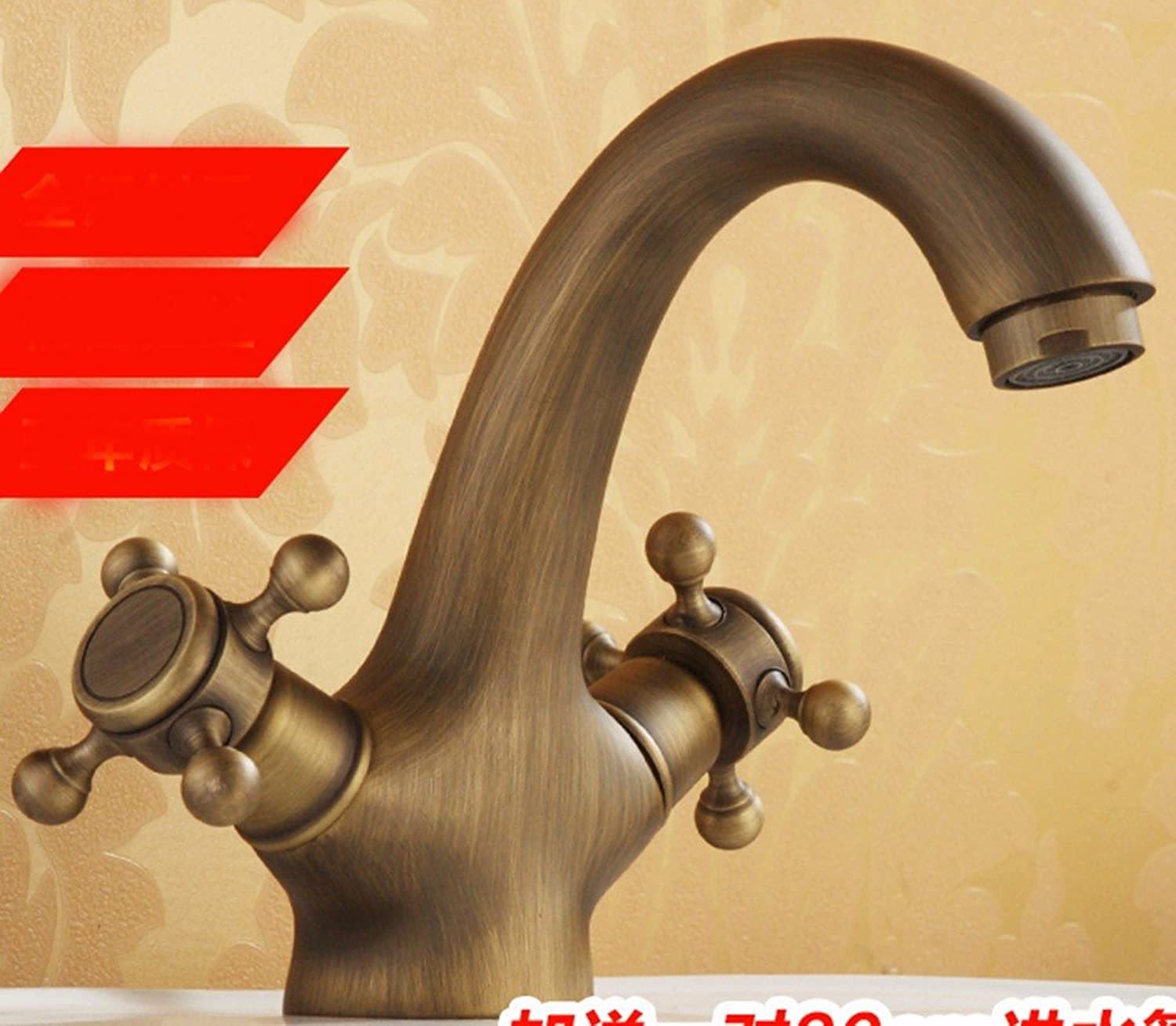 Hlluya Professional Sink Mixer Tap Kitchen Faucet Copper, hot and cold, and Washbasin Faucet, 1