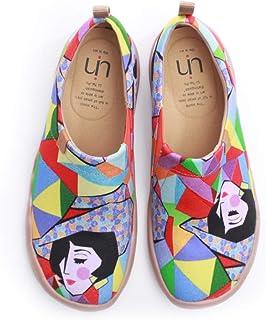 UIN Espadrilles Femme Chaussures Femme Confort Toile Originales Chaussures Bateau Voyage Imprimées Baskets Mocassins Plate...