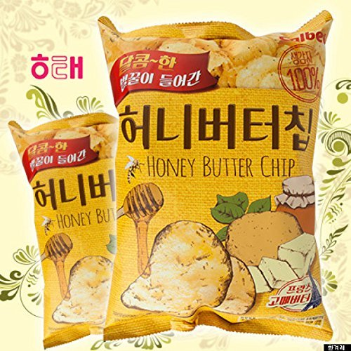 HaiTai Honey Butter Chip 60g 8ea / Korean Potato Chips (8 bags)