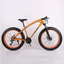 KNFBOK Bicicleta Mujer Paseo Mountain Bike 21Speeds Reducción de Marcha Fuera de Carretera Beach Bike 4.0 neumático Grande neumático Ancho Bicicleta Adulto Adaptarse a una Variedad de Condiciones