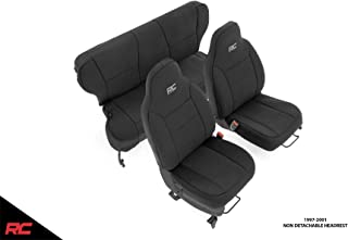 Rough Country Neoprene Seat Covers Black Compatible w 1997-2001 Jeep Cherokee XJ Front/Rear Custom Water Resistant 91022