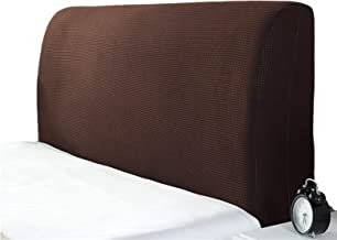 Headboard Cover King Super Soft Comfotable Short Plush Bed Head Slipcover Dustproof Stretch Wood Leather for Twin Queen Fu...