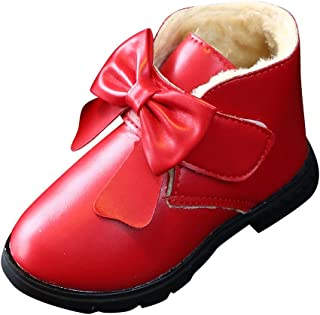 WEXCV Baby Cute Bow Winter sneeuwlaarzen Warme laarzen mode kinderen Fluff verdikking laarzen jongens meisjes casual laarz...