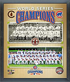 Chicago Cubs 1908 & 2016 World Series Champions Team Photo (Size: 12