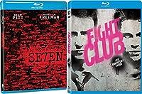 Fight Club & Seven 7 [Blu-ray] 2 Pack Action Movie Set Brad Pitt David Fincher