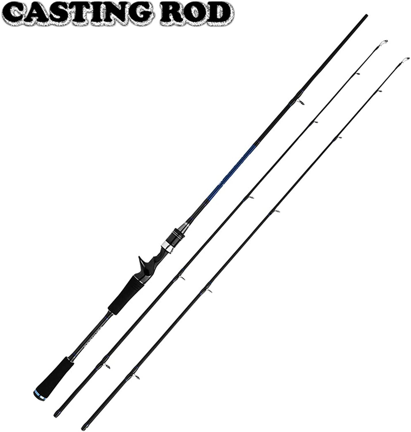 PREtty-2 Lure Fishing Rod 1.8m Carbon Spinning Casting Rod M MH Power Fishing Pole 2 Sections