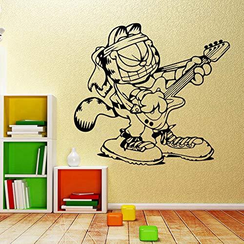 supmsds Spielen sie die Gitarre Musik wandaufkleber abnehmbare DIY tapete für Baby Wohnzimmer Schlafzimmer wandkunst für wanddekoration wandbilder l 43 cm x 39 cm
