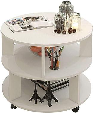 NYKK Bouts de canapé Le matériel Favorable à l'environnement de Petite Table Basse Ronde de Table d'appoint de Table