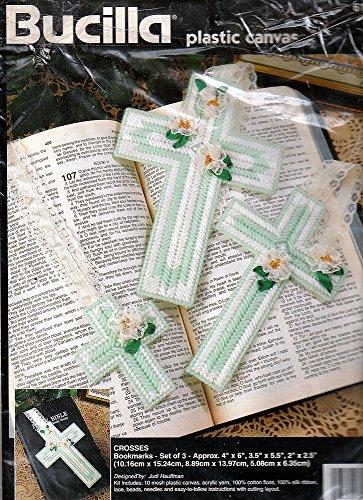 Bucilla Plastic Canvas 61781995 CROSSES Bookmarks Set of 3
