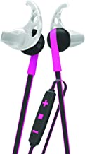 Tzumi Bluetooth Wireless Stereo ProBuds Sports Earbuds - Rechargeable Wireless Headphones with Powerful Bass - Built in High Definition Microphone and Remote Music Control - Pink