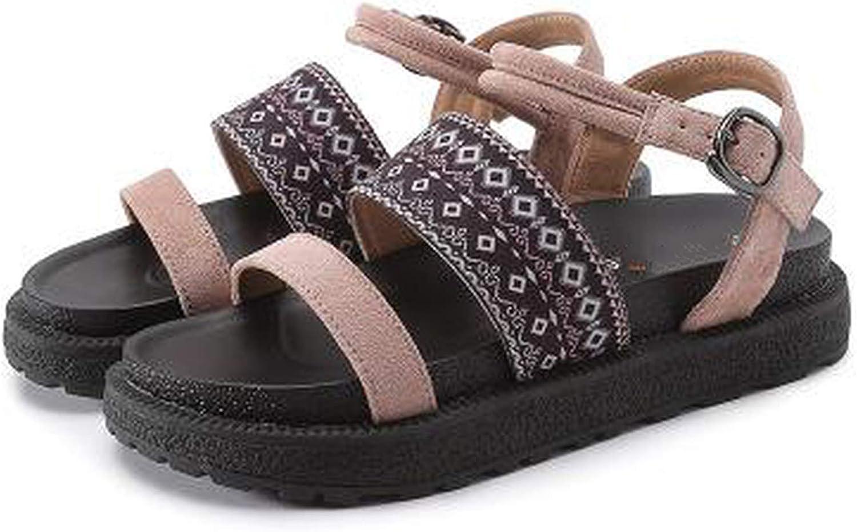 Summer Sandals Women Flat shoes Peep-Toe Sandalias Large Size Roman Sandals Woman Casual shoes,Khaki,42