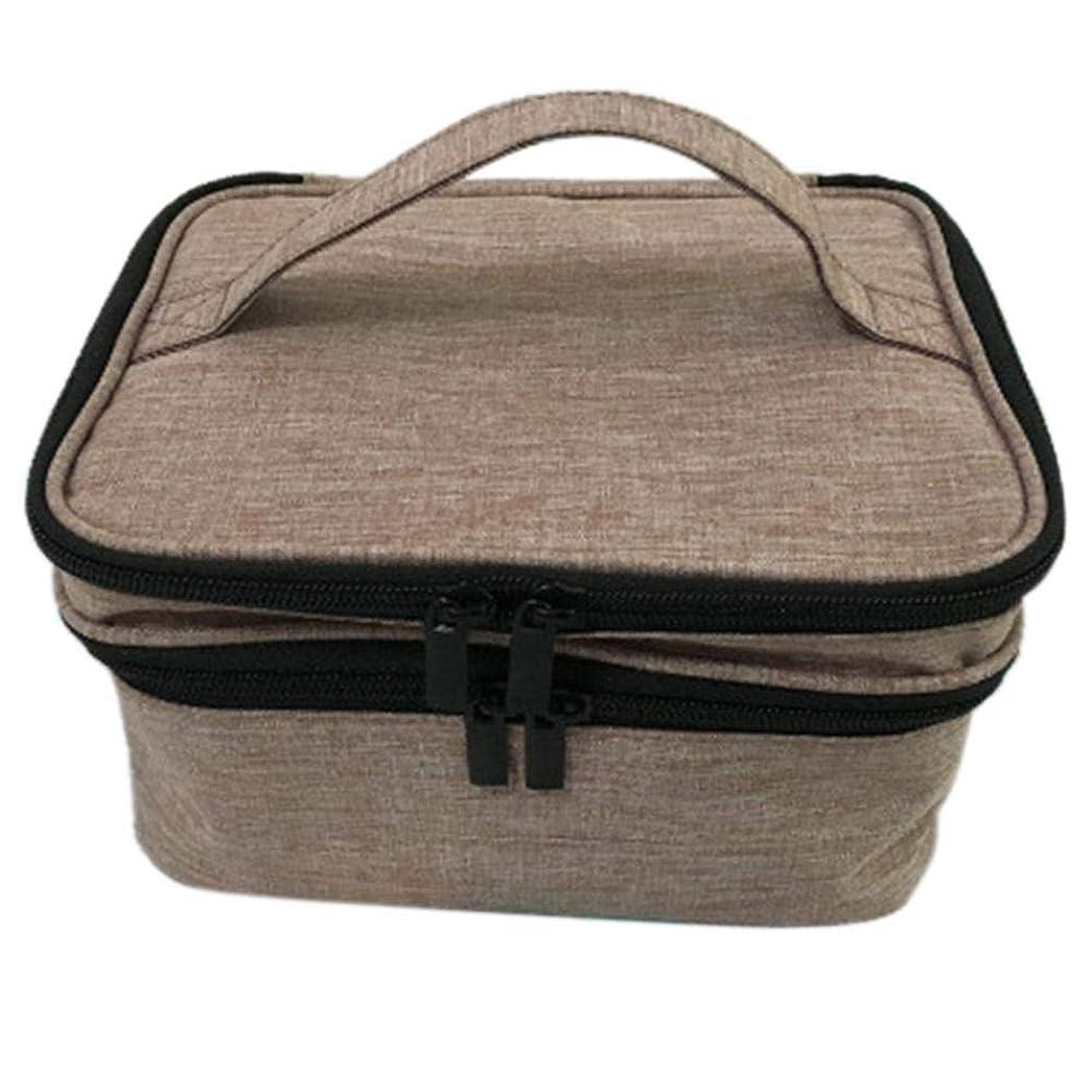 乳所有権ディスコ収納バッグ 30格 仕切り エッセンシャルオイル 精油 保管袋 収納ボックス 収納ケース 精油ケース 香水収納バッグ 不織布 携帯便利 耐震 30本用 (5ml~30ml)