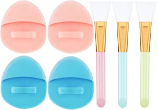 4 Pack Soft Silicone Face Brush Skin Cleansing Brush - Facial Cleansing Pad Manual Facial Cleansing Brush, Deep Cleaning Brush for Sensitive Skin, Silicone Face Cleanser and Massager Brush
