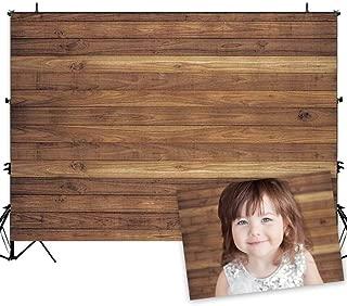 Allenjoy 7x5ft Vinyl Wood Backdrop for Photography Rustic Natural Wood Floor Background Newborn Baby Photoshoot Portrait Studio Props Birthday Party Banner