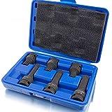 BITUXX® Juego de llaves de vaso XZN (6 piezas, dentado interior dentado, 2 x M14, 2 x M16 y 2 x...