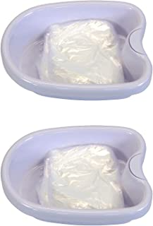 2 Pack Ionic Detox Foot Bath Basin Tub for All Detox Machines with 200 Liners