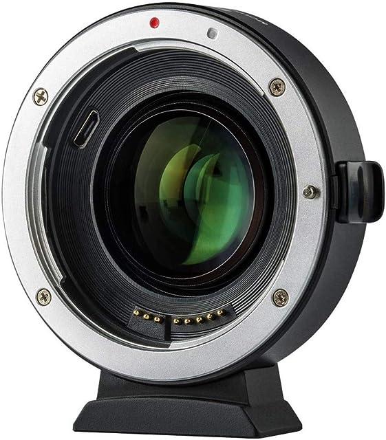 Adaptador de Lente EF-EOS M2 Auto Focus Reducer 071x Speed Booster Adaptador Montura Objetivo Convertidor para Canon EF Lente a EOS EF-M