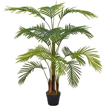 Festnight Planta Artificial 120 cm Verde Palmera con macetero para Decoración Hogar Casa Balcón Jardín Boda, Mesa Oficina Interior y Exterior: Amazon.es: Hogar