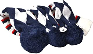 GOOACTION Drivers, Fairway Woods, Hybrids 3pcs American Flag Pom Pom Sock Set Vintange Knit Universal Golf Head Covers Fit for All Golf Brands