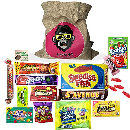 The USA Americano One   Bolsa de regalo Americano Candy USA   Bolsa De Caramelos Y Dulces Americanos   Candy Hamper Sweets & Chocolate Selection Paquete de cajas   fink gifts